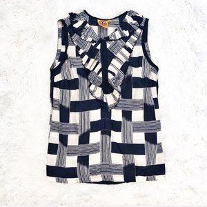Tory Burch plaid sleeveless blouse